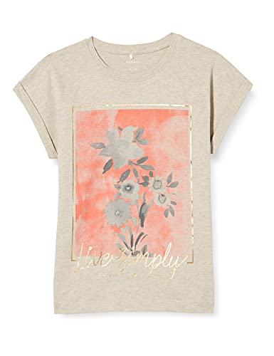 NAME IT Mädchen NKFDARLI SS TOP T-Shirt, Peyote Melange, 134-140