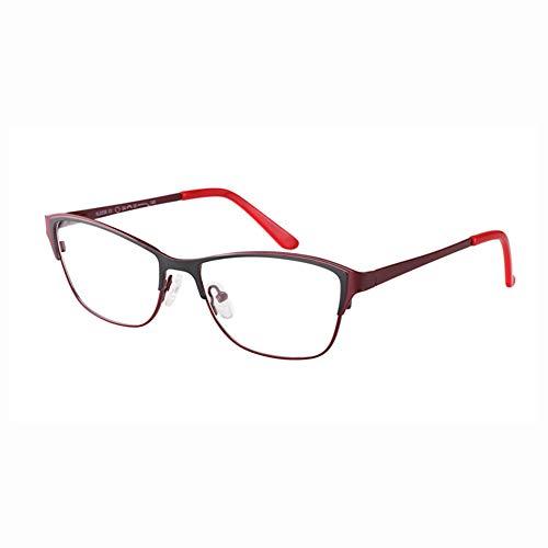 TIFEIYA Photochrome Lesebrille/Farbwechselgläser, Cat Eye Sonnenbrillen für Herren/Damen/ältere Menschen Leser Brille, leicht und elegant wirkt jünger,BlackRed,+0.5