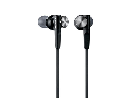 Sony in-Ear Dynamic Headphones MDR-XB50-B (Black) International Version