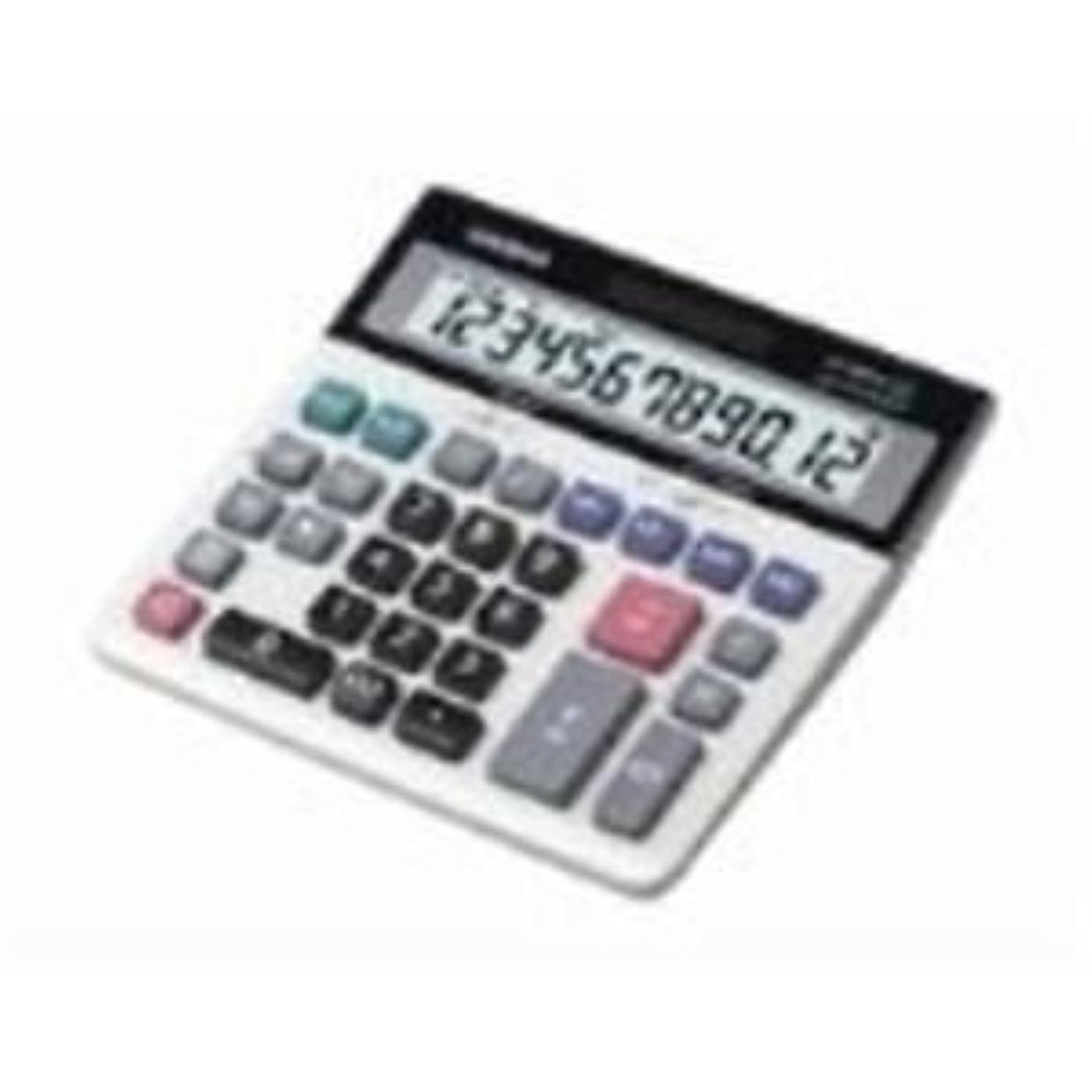 挨拶国ホステル(業務用2セット) カシオ計算機(CASIO) 特大表示電卓デスクタイプ DS-120TW 12桁