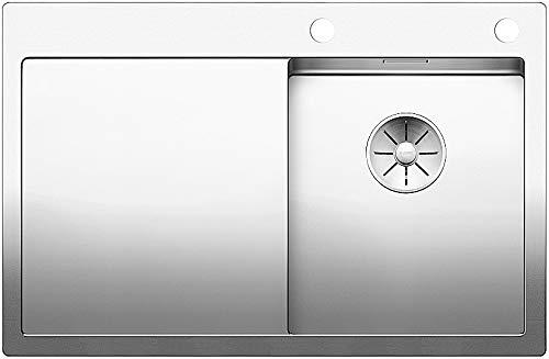 Blanco Claron 4 S-IF, Küchenspüle, Becken rechts, für normalen und flächenbündigen Einbau, InFino-Auslauf, Edelstahl Seidenglanz; 521623