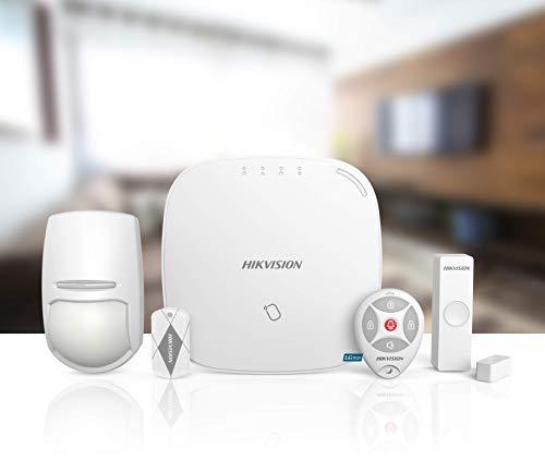 HIKVISION-LGD8008-HGR LAN WLAN GSM (GPRS App-Push/SMS/Anruf) Alarmanlage RFID-Chip scharf-/unscharf Auto. Umschalten WiFi auf SIM EN50131-2 868MHz 2-Wege Alarmvideo vor-/nach Alarm DE Support