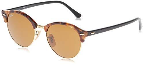 Ray-Ban Unisex Clubround Sonnenbrille, Mehrfarbig (Gestell: Havana, Gläser: baun 1160), Medium (Herstellergröße: 51)