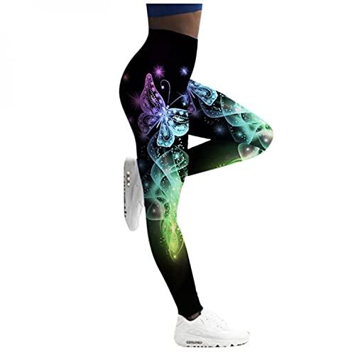 APOKIOG Leggings Damen High Waist mit Tasche Blickdichte Sportleggings Sporthose Push Up Yogapants Yogahose Lange Laufhose für Yoga Fitness