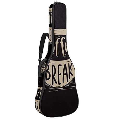 Paquete de guitarra acústica para principiantes, tamaño completo, con tapa de abeto, bolsa de guitarra acústica y taza de café (2) 42,8 x 42,8 x 11,9 cm
