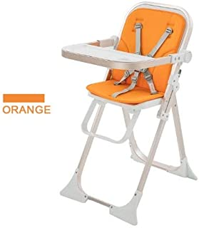 Baby High Chair, Toddler Booster Seat with Removable Tray, Compact, Adjustable and Foldable Baby Feeding Chair, for Boys a...