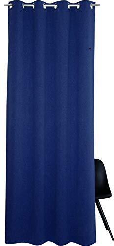 ESPRIT Ösen Vorhang dunkelblau Blickdicht • Gardinen Vorhang 140 x 250 cm • Ösenschal Harp • 100% Polyester