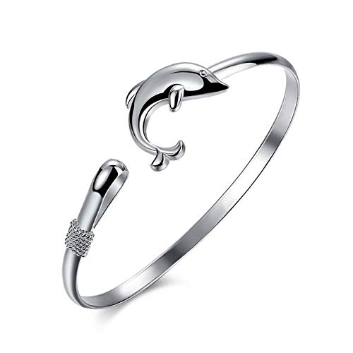 #N/V Trendiger Tierschmuck im europäischen Stil, Modeschmuck, Silberfarben, Delfin-Verschluss, Armreif, Armband, perfektes Geschenk