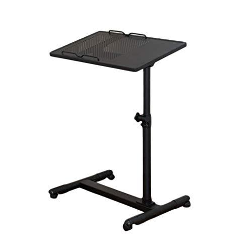 O&YQ Gateleg Tisch/Klapptisch Klapptisch Steel Simple Lazy Table Nachttisch Computertisch Folding Laptop Desk Bed, Schwarz