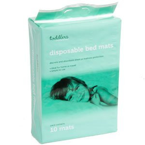 Disposable Bed Mats - Toddlers bed protector 1 x 10