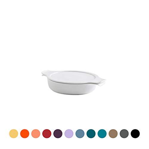 COOK & SERVE | Topf flach mit Deckel 0,60 l / 18 cm kirsche