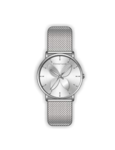 Christian Lacroix – Reloj de mujer de cuarzo, esfera 34 mm y correa de acero inoxidable