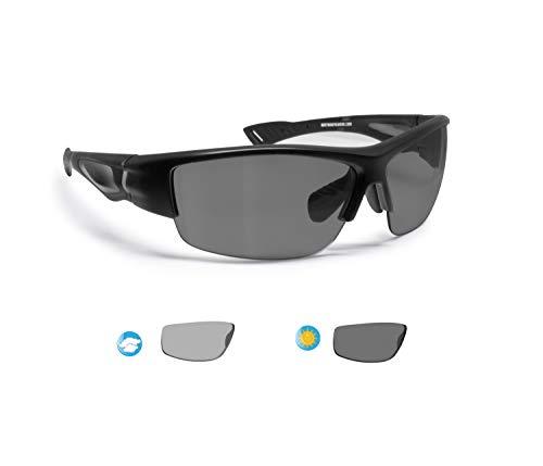 BERTONI Polarisierte Sportbrille Selbsttönend Herren Damen für Radfahren Skilaufen Golf Laufen Angeln – mod. P1001FTA