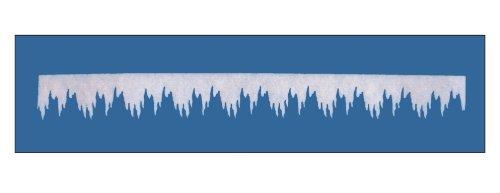 Winterdeko EISZAPFENGIRLANDE MINI. Ca 200 x 10cm. Aus Schneewatte, 0,4cm dick. Art: 86165