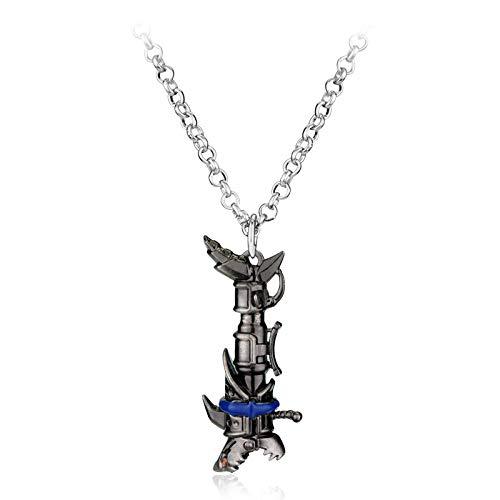 Preisvergleich Produktbild YUNMENG Dota 2 Liga der Legenden LOL Jinx Darts Waffen Halsketten Anhänger LOL Zinklegierung Muscheln dota2 Männer Schmuck Geburtstagsgeschenk