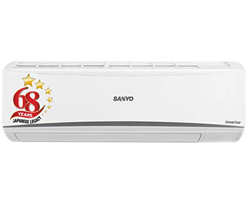 Sanyo 1 Ton 3 Star Inverter Split AC (Copper, PM 2.5 Filter, 2020 Model, SI/SO-10T3SCIC White)
