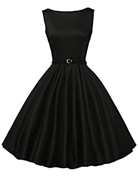 Vintage Swing Party Dresses Classy Boat Neck Size XL F-13