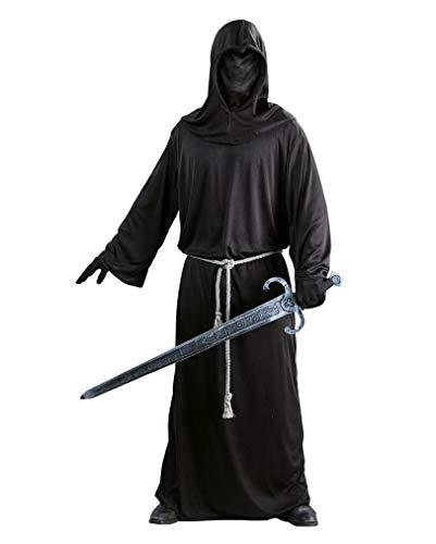 Guirca - Kostüm eines Soldaten, dunklen Mönches, mittelalterlichen Mannes, Farbe Schwarz, Einheitsgröße, 24748-1