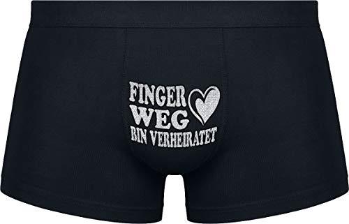 Herr Plavkin | Finger Weg. Bin verheiratet | Schwarze Farbe | Das Klassische Modell.