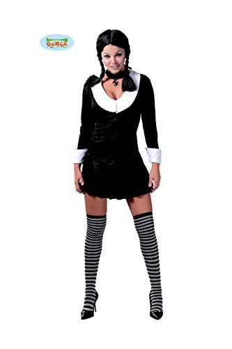 GUIRCA SL.- Costume Famiglia Addams Donna, Colore Nero/Bianco, Taglia Unica, 2_10006863