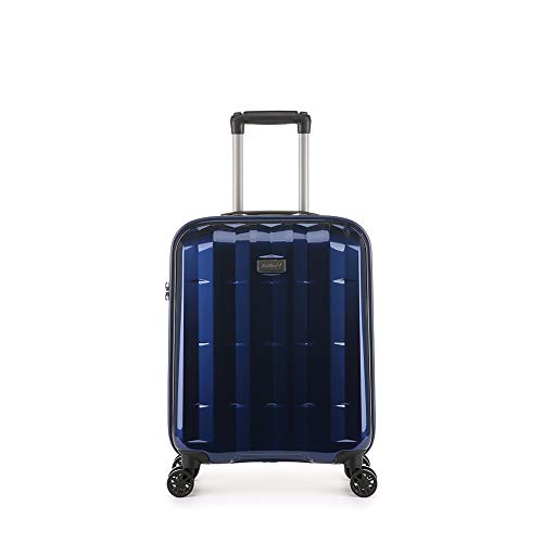 Antler Global DLX, Ultra-Lightweight & Super-Strong Hard Shell Suitcase - Colour: Navy, Size: Cabin