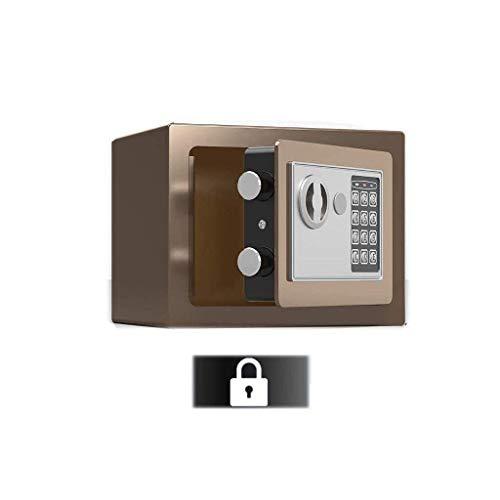 Cajas fuertes medianas,caja de depósito Caja de seguridad para el hogar con código y llaves de anulación de emergencia Alarma incorporada, montada en la pared o en el piso para documentos de di