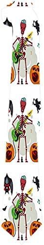 Lazo de Los Hombres Rey Del Rock Esqueleto Guitarrista Guitarrista Murciélago Brujo Lazos Clásicos Corbatas de Regalo Únicas Jacquard Tejido para Negocios Fiesta de Bodas