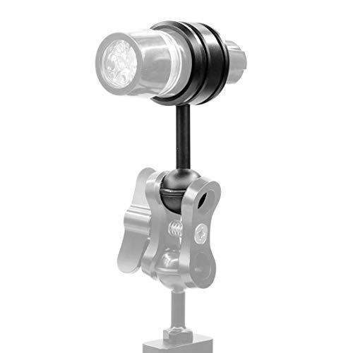 Accesorios de buceo bajo el agua Adaptador Acción accesorios de la cámara de buceo ligero de aleación de aluminio de la abrazadera cabeza de la bola clip del montaje fijo for Submarino de luz estrobos