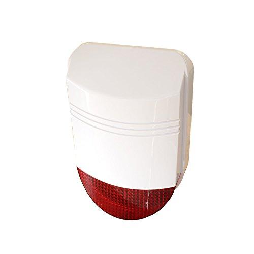 Safe2Home® hochwertige Funk Außensirene/Außenalarm 12 Volt für Funk Alarmanlage Safe2Home - GSM Alarmsytem - mit Repeater Funktion