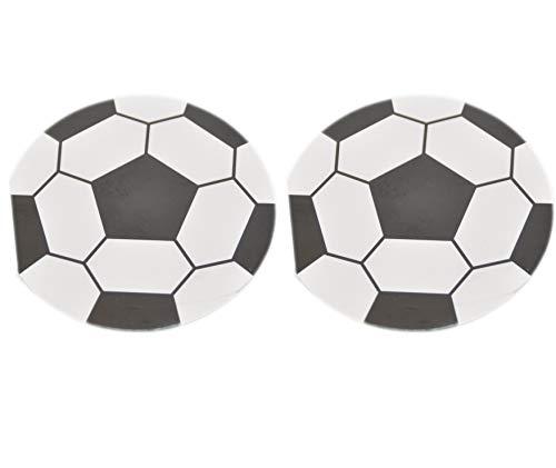 jameitop®⚽ Notizblock 2 X Fußball Notizbuch / Ball Blöcke Ø 8 cm ⚽