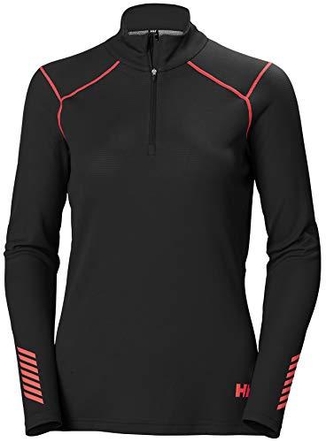 Helly-Hansen Womens LIFA Active 1/2 Zip Base Layer Shirt, 980 Ebony, Small