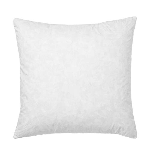 Basic home-28x28 Euro Pillow Insert, Soft Decorative Down Feather Pillow Stuffer, Premium White Cotton Fabric Pillow Form for Couch, Bed, and Cushion