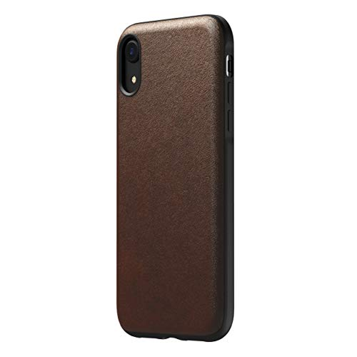 Nomad Rugged Case, Horween Leather, Rustic Brown, iPhone XR