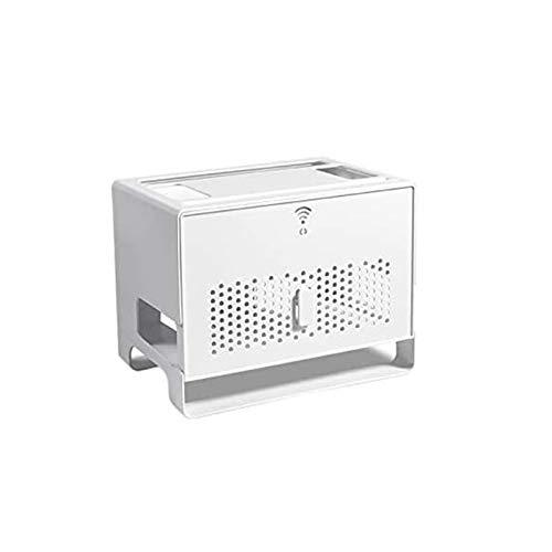 ShenMiDeTieChui Estante Flotante para componentes de TV Conjunto Caja Superior Estante Pases de Medios Estantería enrutador Caja de recepción (Color : White)