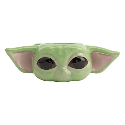 Mandalorian - Taza - Baby Yoda - Taza de café 3D The Child - Grogu - Cerámica - Caja de regalo