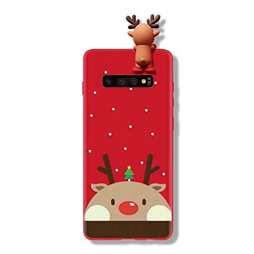 Yoedge Funda para Samsung Galaxy S7, Silicona Cárcasa 3D Doll Toy Muñeca Navidad con Dibujos Antigolpes de Diseño Suave TPU Protector Bumper Case Fundas Movil para Samsung Galaxy S7. Ciervo 1