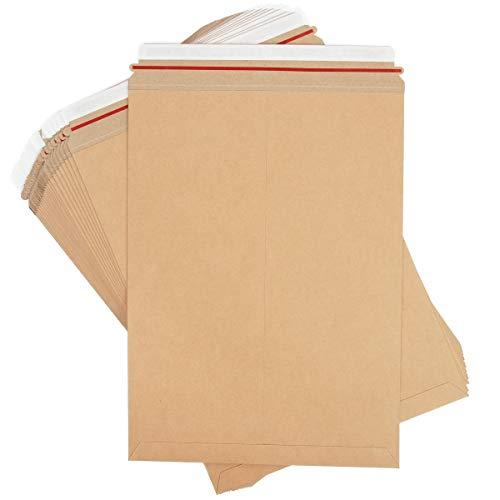 Kraft Rigid Mailer Shipping Envelopes (13 x 18 in, 25 Pack)