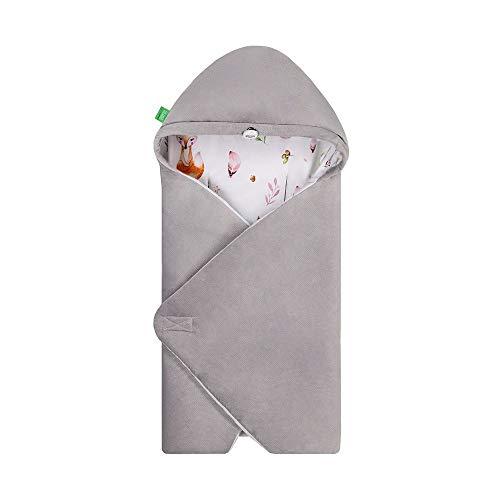 LULANDO Art Baby Winter-Einschlagdecke, Babyschlafsack Yeti, Schlafsack für die Babytrage, Schlafsack für Babyschale, Autositz, Schlafsack für Säuglinge, 75x75 cm (Forest)