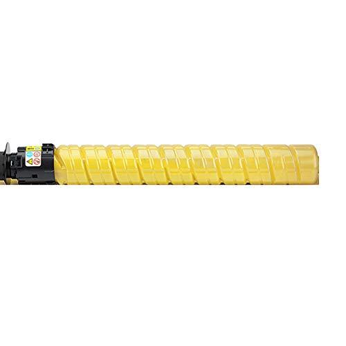 Cartucho de tóner compatible de repuesto para impresora multifunción Ricoh Color Laser Jet MP C3503 C3003 con impresión transparente Whip negro, cian, magenta y amarillo, color amarillo size