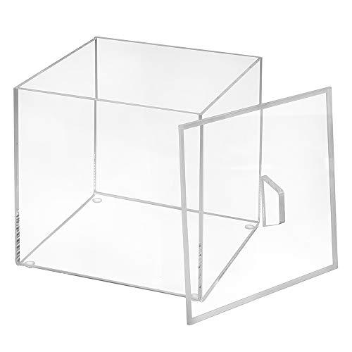 Quadratische Aufbewahrungsbox aus Acrylglas, mit Deckel 150x150x150mm, transparent/durchsichtig/Kunststoff/Quadratisch/Sammelbox - Zeigis®