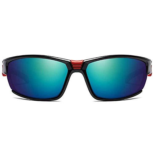 SSM Gafas de Sol Equitación Al Aire Libre Material de Metal Gafas de Sol Colorido Gris/Verde Lente Negro M Negro Hombres Y Mujeres con el Mismo Párrafo Polarizado Sandstorm Gafas de Sol via