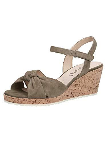 CAPRICE Damen Sandalette 9-9-28713-26 759 grün G-Weite Größe: 39 EU