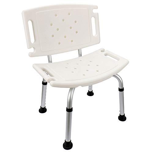LYF STOOLS Silla de Ducha discapacitados, Heavy Duty Ducha y Silla de baño con Respaldo, 7 Equipo Puede ser Ajustada de Altura, para Ancianos, discapacitados, y Personas con discapacidad