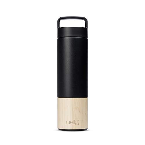 Welly Traveler | Vacuum Insulated & Infusing Stainless Steel Bamboo...