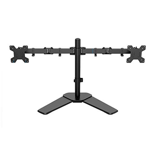Dubbele Monitor Mount Arms 360 graden draaien Dual Screen Display Bracket Table Clamp Type Gratis Lifting Monitor Holder (Color : Black, Size : D)