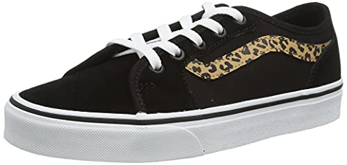 Vans Women's Filmore Decon Sneaker, (Cheetah Stripe) Black/White, 6 UK