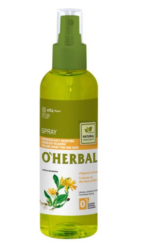 Spray Volumen Raíces Cabello/ Pelo Fino Natural sin Sulfatos ni Siliconas con Extracto de Árnica O'Herbal 200ml
