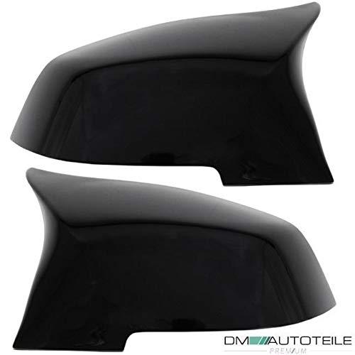 DM Autoteile Satz Spiegelkappen SET Hochglanz Schwarz passend für F20 F21 F22 F23 F30 F31 F87
