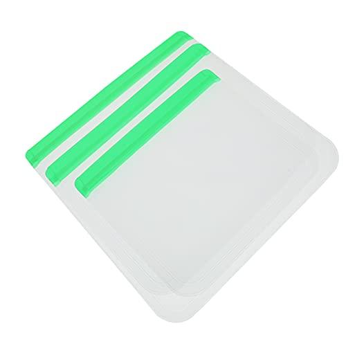 OSALADI 3 Pzas Bolsas de Almacenamiento Reutilizables Verdes Bolsas de Congelador Contenedor de Alimentos para Sous Vide Líquido Almuerzo Snack Sándwich Marinado Carne Frutas Contenedores