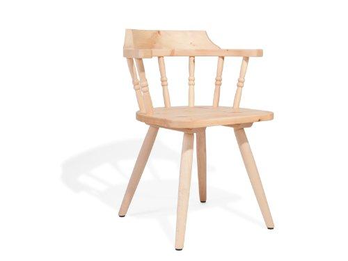 4betterdays.com NATURlich leben! Chaise de ferme en bois de pin de qualité supérieure - Chaise traditionnelle en bois avec lattes - Chaise de maison de campagne - Hauteur d'assise : 45 cm - Profondeur d'assise : 41 cm - Fabriquée à la main dans le Tyrol du Sud.